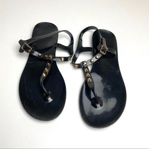 Express T Strap Jelly Sandals 10